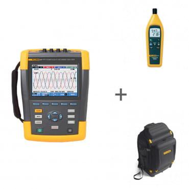 Анализатор энергии Fluke 435 II/RU + Гигрометр Fluke 971 + Рюкзак Pack30 в подарок!