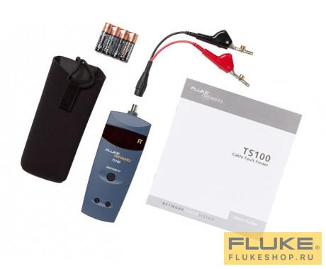 Тестер неисправности кабеля Fluke Networks TS100 с переходом с разъема BNC на штекер и на ABN